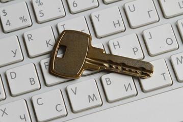 Lock on a keyboard of laptop