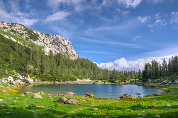Triglav Lakes in Julian Apls in summer