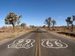 Leinwanddruck Bild - Route 66 Desert