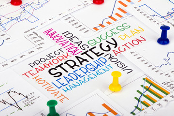 commercial strategy concept with financial graph