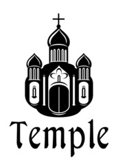 Religious temple or church icon