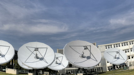 Time lapse satellite dishes