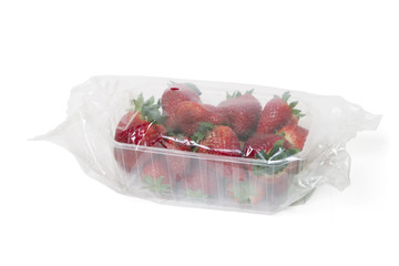 package of wrapped strawberries