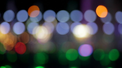 De-focused city night bokeh abstract background