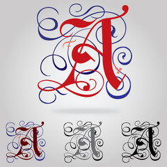 Decorated uppercase Gothic font - Letter A