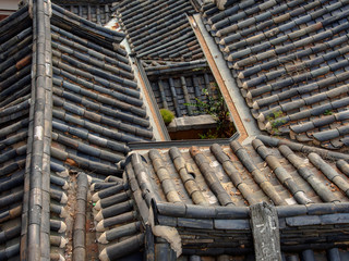 Old rooftops of Korean traditional house
