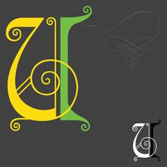 Music style English alphabets - Letter U