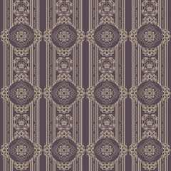 Seamless damask decorative wallpaper