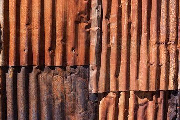 Rusty Corrugated Metal Background