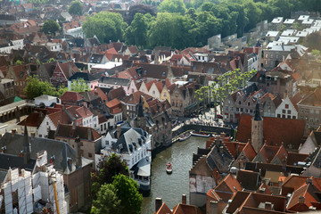 The view of old Brugge from Belfort tower