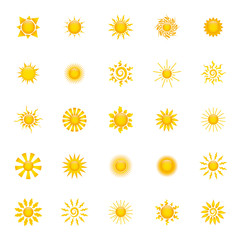 Abstract suns