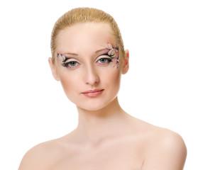 Beauty portrait. Creative makeup