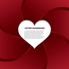 Vector abstract red heart background