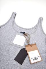 undershirt with price tag
