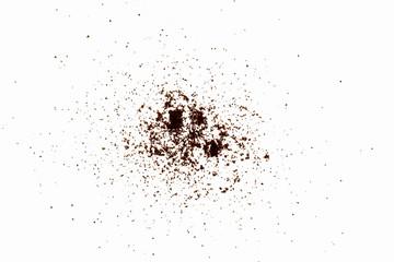 Scattered powder
