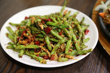 Chinese Green Beans and Pork Dish