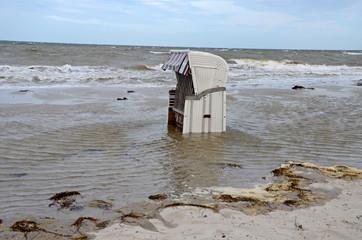 Unwetter an der Ostsee