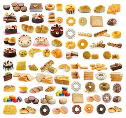Thailand dessert, bread, cake, donuts, croissants, breadsausages