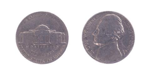The Thomas Jefferson head Nickel