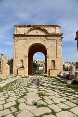 Roman ruins in the Jordanian city of Jerash, Jordan