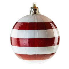 Striped christmas ball