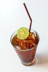 Glass of Lemon ice tea