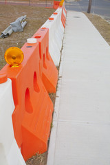 A construction barrier.