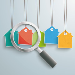 5 Colored Price Sticker Houses Loupe