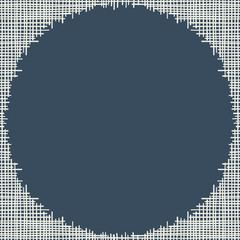 Abstract canvas hole grungy frame. Vector