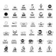 Hamburger Icons Set - Isolated On White Background