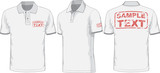 Fototapety Front, back and side views of polo-shirt. Vector