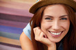 Smiling girl in hat - 68663095