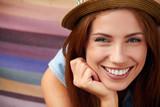 Smiling girl in hat