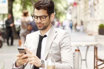 Modern businessman portrait