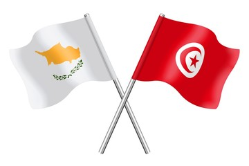 Flags : Cyprus and Tunisia