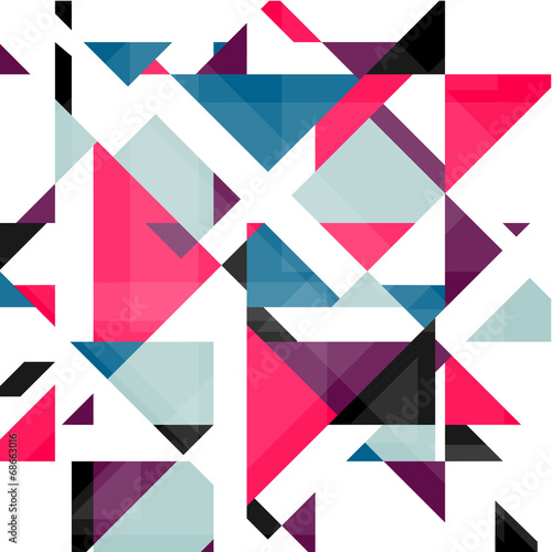 Plakat Abstract geometry background