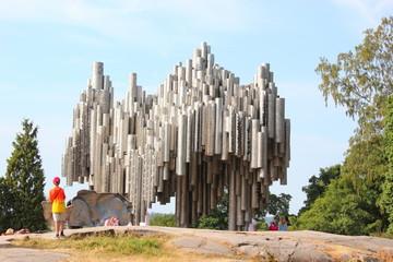 Das Denkmal für Jean Sibelius im Sibelius-Park in Helsinki