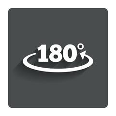 Angle 180 degrees sign icon. Geometry math symbol