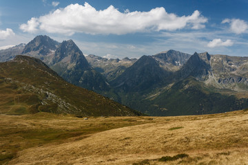 alpine peaks in Aiguilles Rouges Nature Reserve