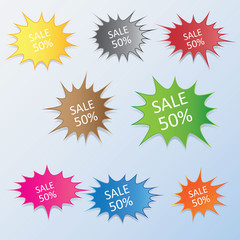 Starburst bursting vector clip art Illustration
