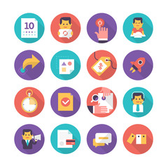 Customer Care and Commerce Icons
