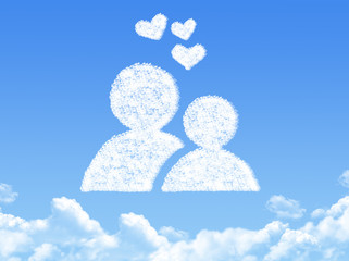 Love concept cloud shape