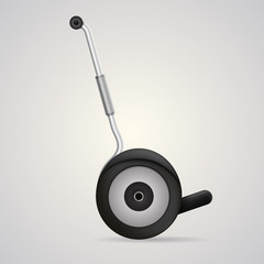 Illustration of segway a side view.