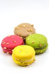 Sweety Macarons on the white background