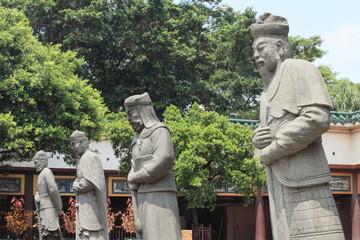 guardian warrior statues at Che Kung Temple, Hong Kong