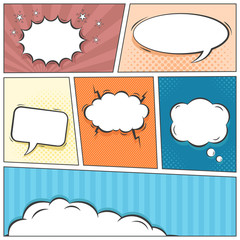 Comic speech bubbles vector background