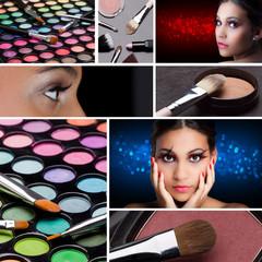 make-up mit farbpaletten