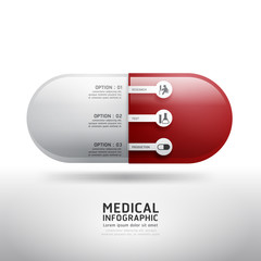 capsule drugs infographic pharmacy medicine medical.Vector illus