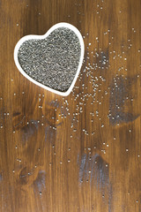Heart Healthy Chia Seeds Vertical