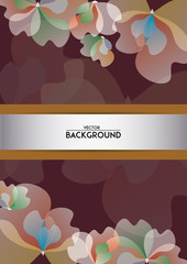 Flower background design for template in vector.
